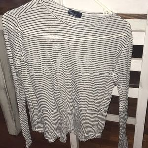 Stripped black and white Gap long sleeve